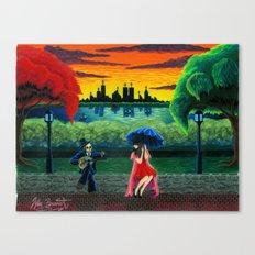 Death Loves Life Canvas Print