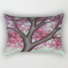 black capped chickadees and spring bokeh Rectangular Pillow