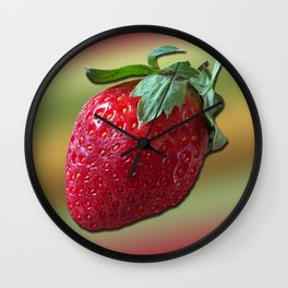 Delicious strawberry Wall Clock