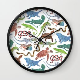 Endangered Reptiles Around the World Wall Clock