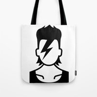 david bowie Tote Bags featuring Bowie  by triangle.cross