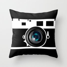 Camera Lens Throw Pillow