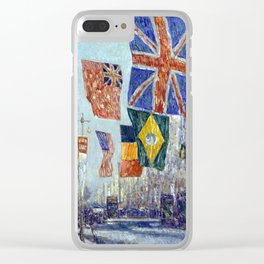 Childe Hassam Avenue of the Allies, Great Britain Clear iPhone Case