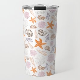Seashell Print Travel Mug