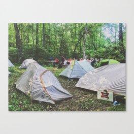 Tent City •Appalachian Trail Canvas Print