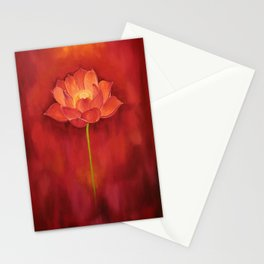 Red Lotus Stationery Cards