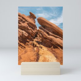 Garden of the Gods Rock Formation Mini Art Print