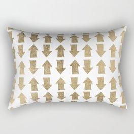 Chic modern faux gold white bohemian arrows pattern Rectangular Pillow