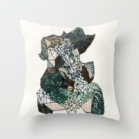 nordic Throw Pillows featuring Nordic collage by a.r.r.p.