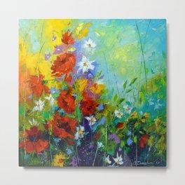 Rhythm of summer flowers Metal Print