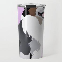 Woof on lavender Travel Mug