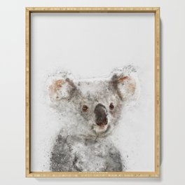Koala Watercolor Serving Tray