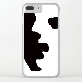 Shadow Portrait Clear iPhone Case