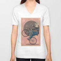 jackalope V-neck T-shirts featuring Jackalope by Kelli Shaver
