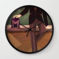 teacher Wall Clocks featuring Bad Teacher by modHero