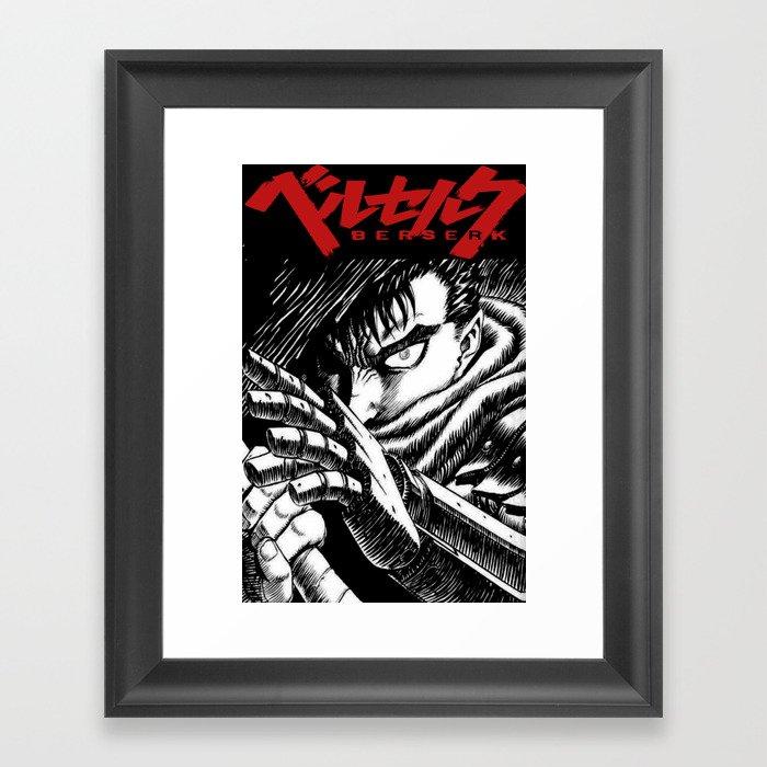 Berserk Cover Gerahmter Kunstdruck