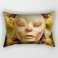 Golden Harvest Muertita Detail Rectangular Pillow