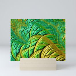 patterns green yellow string Mini Art Print