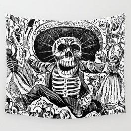 Calaveras Oaxaquena   Skeletons   Skulls   Day of the Dead   Dia de los Muertos   Posada   Circa 1852-1913   Wall Tapestry