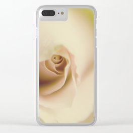 Centre of a pink rose Clear iPhone Case