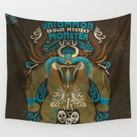 monster Wall Tapestries featuring monster by Judit Varga