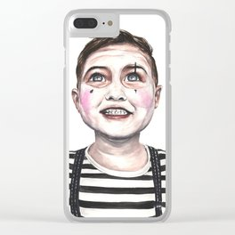 Children Mime Clear iPhone Case