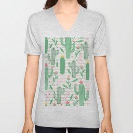 cactus pc Unisex V-Neck