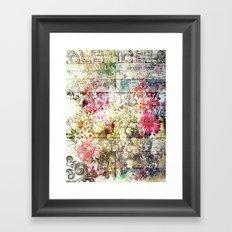 Wild flowers on display Framed Art Print
