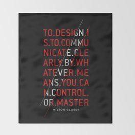 To Design by Milton Glaser Throw Blanket