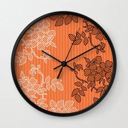 SPRING IN ORANGE Wall Clock