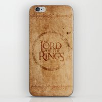 lord of the rings iPhone & iPod Skins featuring Lord of the Rings by Kory Hill