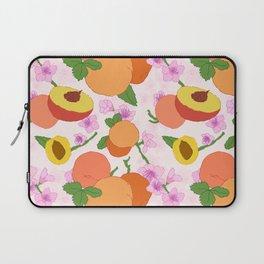 Peach Blossom Floral Laptop Sleeve