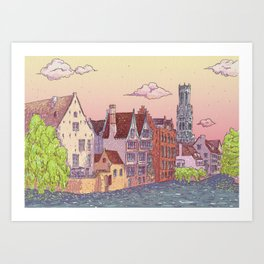Travel Belgium Wanderlust Art Print
