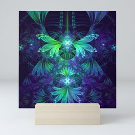 The Clockwork Kite Wings of a Blue-Green Dragonfly Mini Art Print