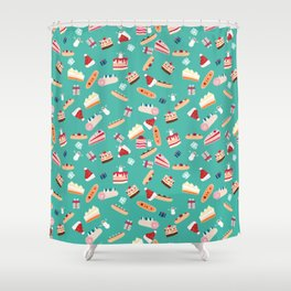 Christmas pastry pattern Shower Curtain