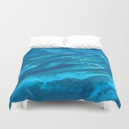 Dramatic Blue Ocean Waves Duvet Cover