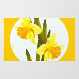 Yellow Spring Flowers with Green Leaf #decor #society6 #buyart Rug