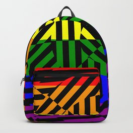 Best Abstract Art (Rainbow Colors) Backpack