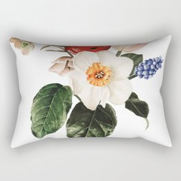 Spring Flowers Bouquet Rectangular Pillow