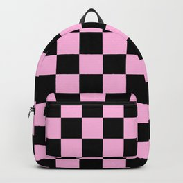 Checkered (Black & Pink Pattern) Backpack