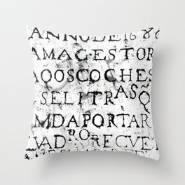 Stone Plate on a Street in Lisbon Throw Pillow