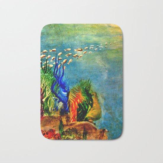 Fish Swarm Bath Mat