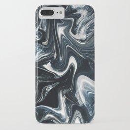 Dark Deep Blue Sea - Blue and White Liquid iPhone Case