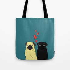 Pugs In Love Tote Bag