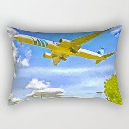 Airliner Pop Art Rectangular Pillow