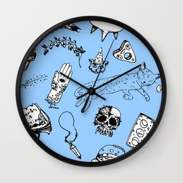 pattern witchcraft Wall Clock