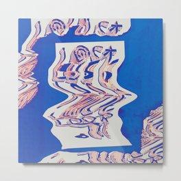 Lost Loop (Blue Glitch ver.) Metal Print