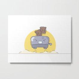 Morning flying toaster Metal Print