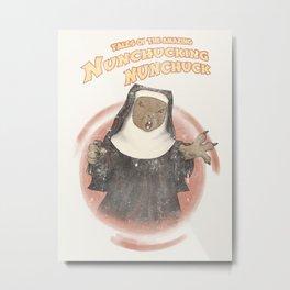 Nunchucking Nunchuck Metal Print