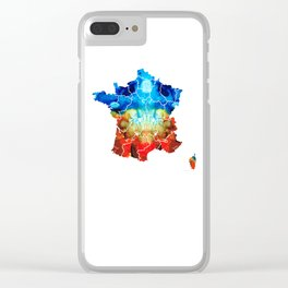 France - European Map by Sharon Cummings Clear iPhone Case